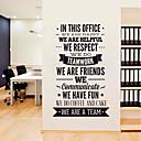 رخيصةأون ملصقات ديكور-لواصق حائط مزخرفة - لواصق حائط الطائرة / الكلمات ونقلت ملصقات الحائط الأحرف / أشكال غرفة الجلوس / غرفة دراسة / مكتب
