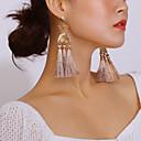 ieftine Cercei-Pentru femei Cercei Picătură Hanging Cercei Franjuri femei Ciucure Modă Elegant cercei Bijuterii Auriu Pentru Zilnic Festival 1 Pair