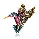 cheap Brooches-Women's Vintage Style / 3D Brooches - Rhinestone, Gold Plated Bird, Animal Ladies, Unique Design, Vintage Brooch Jewelry Rainbow For Evening Party / Street