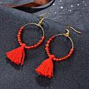 Χαμηλού Κόστους Σκουλαρίκια-Γυναικεία Φούντα Κρεμαστά Σκουλαρίκια - κυρίες Μοναδικό Μποέμ Μπόχο Κοσμήματα Κόκκινο / Πράσινο / Μπλε Για Γάμου Πάρτι 1 Pair