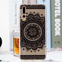 cheap iPhone Cases-Case For Huawei P20 Pro / P20 lite Transparent / Pattern Back Cover Flower Soft TPU for Huawei P20 / Huawei P20 Pro / Huawei P20 lite