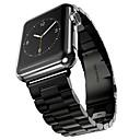 hesapli Makyaj ve Tırnak Bakımı-Paslanmaz Çelik Watch Band kayış için Apple Watch Series 3 / 2 / 1 Siyah / Gümüş / Altın Rengi 23cm / 9 inç 2.1cm / 0.83 İnç