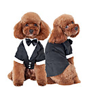 cheap Dog Clothing & Accessories-Cat Dog Tuxedo Dog Clothes Bowknot Black Cotton Costume For Husky Labrador Alaskan Malamute Spring &  Fall Winter Men's Cosplay Wedding