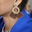 cheap Headsets & Headphones-Women's Crystal Hoop Earrings Earrings Ladies Bohemian Jewelry Rainbow / Light Red / Wine For Street 1 Pair