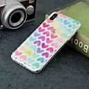 Недорогие Кейсы для iPhone-Кейс для Назначение Apple iPhone XR / iPhone XS Max Прозрачный / С узором Кейс на заднюю панель С сердцем Мягкий ТПУ для iPhone XS / iPhone XR / iPhone XS Max