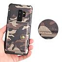 お買い得  Galaxy S シリーズ ケース/カバー-ケース 用途 Samsung Galaxy S9 Plus / S9 カードホルダー / 磁石バックル バックカバー ソリッド ハード PUレザー のために S9 / S9 Plus / S8 Plus