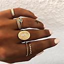 billige Lagvise halskjeder-Dame Knokering / Ring Set / Multi-fingerring 5pcs Gull / Sølv Harpiks / Legering Oval damer / Uvanlig / Asiatisk Gave / Daglig / Gate Kostyme smykker / Sol