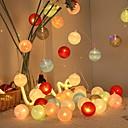 hesapli LED Şerit Işıklar-3M Dizili Işıklar 20 LED'ler Çok Renkli Dekorotif / Tatil AA Bataryalar Powered 1set