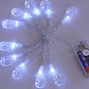 ieftine Lupe-1.2m Fâșii de Iluminat 10 LED-uri Alb Decorativ Baterii AA alimentate 1set