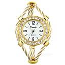 ieftine Colier la Modă-Pentru femei Ceas de Mână Diamond Watch ceas de aur Quartz Oțel inoxidabil Auriu Cronograf Draguț Luminos Analog femei Atârnat Elegant - Auriu Un an Durată de Viaţă Baterie / imitație de diamant