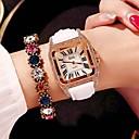 Χαμηλού Κόστους Ανδρικά ρολόγια-Γυναικεία Ρολόι Καρπού Square Watch Χαλαζίας Συνθετικό δέρμα με επένδυση Μαύρο / Λευκή / Κόκκινο 30 m Χαριτωμένο Νεό Σχέδιο Καθημερινό Ρολόι Αναλογικό κυρίες Καθημερινό Κομψό - Μαύρο Κόκκινο Ροζ