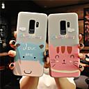 رخيصةأون حافظات / جرابات هواتف جالكسي S-غطاء من أجل Samsung Galaxy S9 / S9 Plus / S8 Plus مثلج / شبه شفّاف / مطرز غطاء خلفي كارتون ناعم TPU