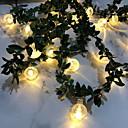 hesapli LED Şerit Işıklar-3M Dizili Işıklar 20 LED'ler Sıcak Beyaz Dekorotif AA Bataryalar Powered 1set