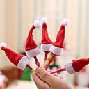 abordables Organisateurs de Câbles-Décorations de vacances Décorations de Noël Noël Décorative Rouge 10pcs