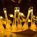 tanie Taśmy świetlne LED-3 M Łańcuchy świetlne 50 Diody LED Ciepła biel Na energię słoneczną / Dekoracyjna Zasilanie solarne 1 zestaw