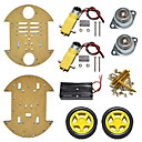 cheap DIY Kits-New Product/ Disc Type Smart Car Chassis/ Two-Wheel