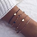 billiga Armband-4pcs Dam Klassisk Kedje & Länk Armband Armband - damer, Artistisk, Unik design, Mode Armband Smycken Rosguld Till Dagligen Street