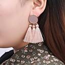 Χαμηλού Κόστους Σκουλαρίκια-Γυναικεία Φούντα Κρεμαστά Σκουλαρίκια - Ακίδα κυρίες Θύσανος Βίντατζ Μπόχο Κοσμήματα Κόκκινο / Ροζ / Σκούρο πράσινο Για Βραδινό Πάρτυ Αργίες 1 Pair