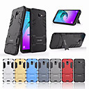 cheap Galaxy J Series Cases / Covers-Case For Samsung Galaxy J6 Shockproof / with Stand Back Cover Solid Colored Hard PC for J6 (2018)