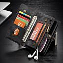 levne iPhone pouzdra-CaseMe Carcasă Pro Apple iPhone XR Peněženka / Pouzdro na karty / Nárazuvzdorné Celý kryt Jednobarevné Pevné PU kůže pro iPhone XR
