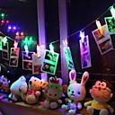 tanie Taśmy świetlne LED-3 M Łańcuchy świetlne 20 Diody LED Wiele kolorów Dekoracyjna Zasilanie bateriami AA 1 zestaw