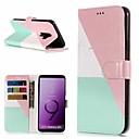 رخيصةأون أغطية أيفون-غطاء من أجل Samsung Galaxy S9 / S9 Plus / S8 Plus محفظة / حامل البطاقات / مع حامل غطاء كامل للجسم حجر كريم قاسي جلد PU
