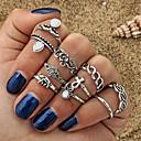 Χαμηλού Κόστους Σκουλαρίκια-10pcs Γυναικεία Cubic Zirconia Σετ δαχτυλιδιών - Κράμα Ελέφαντας, Λουλούδι κυρίες, Geometric, Βασικό Κοσμήματα Χρυσό / Ασημί Για Καθημερινά Ημερομηνία 7
