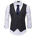 رخيصةأون القلائد-رجالي أسود رمادي غامق كاكي L XL XXL Vest أساسي لون سادة نحيل / بدون كم / الخريف