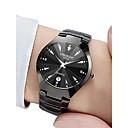 preiswerte Uhren Herren-Herrn Uhr Armbanduhr Quartz Edelstahl Schwarz / Rotgold 30 m Wasserdicht Kalender Analog Freizeit Modisch Schwarz Rotgold