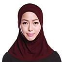 ieftine Eșarfe & Wrapes-Pentru femei Mată Multistratificat De Bază, Poliester - Hijab / Toate Sezoanele