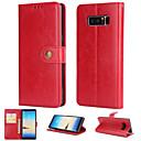 رخيصةأون إكسسوارات سامسونج-غطاء من أجل Samsung Galaxy Note 8 محفظة / حامل البطاقات / قلب غطاء خلفي لون سادة قاسي جلد PU