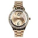 זול שעוני נשים-בגדי ריקוד נשים שעוני שמלה שעון יהלומים שעון זהב Japanese קווארץ מתכת אל חלד כסף / זהב מגניב חיקוי יהלום אנלוגי יום יומי אופנתי - זהב כסף שנתיים חיי סוללה / Sony SR626SW