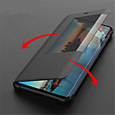 cheap Cases / Covers for Huawei-Case For Huawei Huawei Mate 20 Lite / Huawei Mate 20 Pro with Windows / Flip / Auto Sleep / Wake Up Full Body Cases Solid Colored Hard PU Leather for Huawei Mate 20 lite / Huawei Mate 20 pro / Huawei