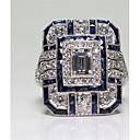 ieftine Colier la Modă-Pentru femei Inel Zirconiu Cubic 1 buc Albastru Articole de ceramică femei / Modă Zilnic / Serată Costum de bijuterii