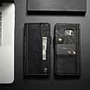 رخيصةأون Sony أغطية / كفرات-غطاء من أجل Samsung Galaxy S7 edge محفظة / حامل البطاقات / مع حامل غطاء كامل للجسم لون سادة قاسي جلد PU