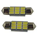 baratos Lâmpadas de LED para Carros-2pcs 39mm / 36mm / 41mm Carro Lâmpadas 2W SMD 5630 215lm 9 Lâmpada de  Leitura
