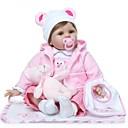 ieftine Decorațiuni de Casă-NPKCOLLECTION NPK DOLL Păpuși Renăscute Girl Doll Bebe Fetiță 24 inch natural Cadou Artificial Implantation Brown Eyes Lui Kid Fete Jucarii Cadou