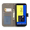 ieftine HDMI-Maska Pentru Samsung Galaxy J8 (2018) / J7 (2017) / J6 (2018) Portofel / Titluar Card / Cu Stand Carcasă Telefon Fruct / Floare Greu PU piele