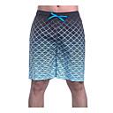 abordables Bombillas Incandescentes-Hombre Diario Delgado Pantalones de Deporte / Shorts Pantalones - Bloques Azul Piscina XL XXL XXXL