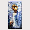 ieftine Gadget Baie-Hang-pictate pictură în ulei Pictat manual - Oameni Culoarea pielii Modern Fără a cadru interior