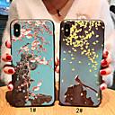 رخيصةأون أغطية أيفون-غطاء من أجل Apple iPhone XS / iPhone XR / iPhone XS Max مثلج / نموذج غطاء خلفي حيوان / زهور ناعم TPU