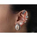 저렴한 팔찌-여성용 열대의 스터드 귀걸이 은 도금 쉘 귀걸이 보헤미안 열대의 보석류 실버 제품 결혼식 파티 카니발 데이트 비키니 1 세트
