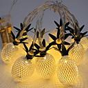 billiga Bakljus-3.5m Ljusslingor 20 lysdioder Varmvit Dekorativ AA Batterier Drivs 1set