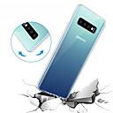 halpa Samsung suojakalvot-Etui Käyttötarkoitus Samsung Galaxy Galaxy S10 / Galaxy S10 E Läpinäkyvä Takakuori Yhtenäinen Pehmeä TPU varten S9 / S9 Plus / S8 Plus