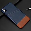 hesapli iPhone Kılıfları-Pouzdro Uyumluluk Apple iPhone XR / iPhone XS Max Kart Tutucu Arka Kapak Solid Sert PU Deri için iPhone XS / iPhone XR / iPhone XS Max
