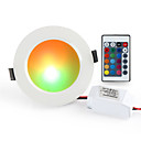 cheap Downlights-1pc 10 W 900-1000 lm 10 LED Beads Remote Control / RC Dimmable Easy Install LED Downlights RGB+White 85-265 V Ceiling Commercial Home / Office