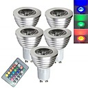 cheap Incandescent Bulbs-5pcs 3 W LED Spotlight LED Smart Bulbs 250 lm E14 GU10 GU5.3 1 LED Beads SMD 5050 Smart Dimmable Remote-Controlled RGBW 85-265 V / RoHS