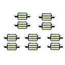 ieftine Car Signal Lights-10pcs 31mm / 36mm Mașină Becuri 1 W SMD 3014 60-100 lm 21/30 LED Bec Placuțe Înmatriculare / Lumini de interior Pentru Παγκόσμιο