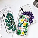 abordables Pochettes / Coques d'iPad-Coque Pour Apple iPhone XR / iPhone XS Max Motif Coque Plantes / Fleur Flexible TPU pour iPhone XS / iPhone XR / iPhone XS Max
