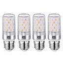 billige LED-kolbepærer-YWXLIGHT® 4stk 12 W LED-kolbepærer 1200 lm E26 / E27 60 LED Perler SMD 2835 Varm hvid Kold hvid 85-265 V